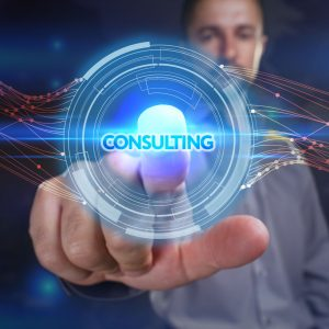 64392479 - business, technology, internet and network concept. young business man chooses the virtual screen: consulting